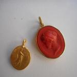 Anhänger Antike Gemmen, Abgüsse, 900 Gold