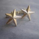 Stern Manschettenknöpfe, Silber